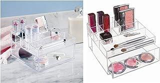 InterDesign Drawers boîte-tiroir, rangement maquillage en plastique avec 1 tiroir & 11 compartiments, rangement cosmétique...