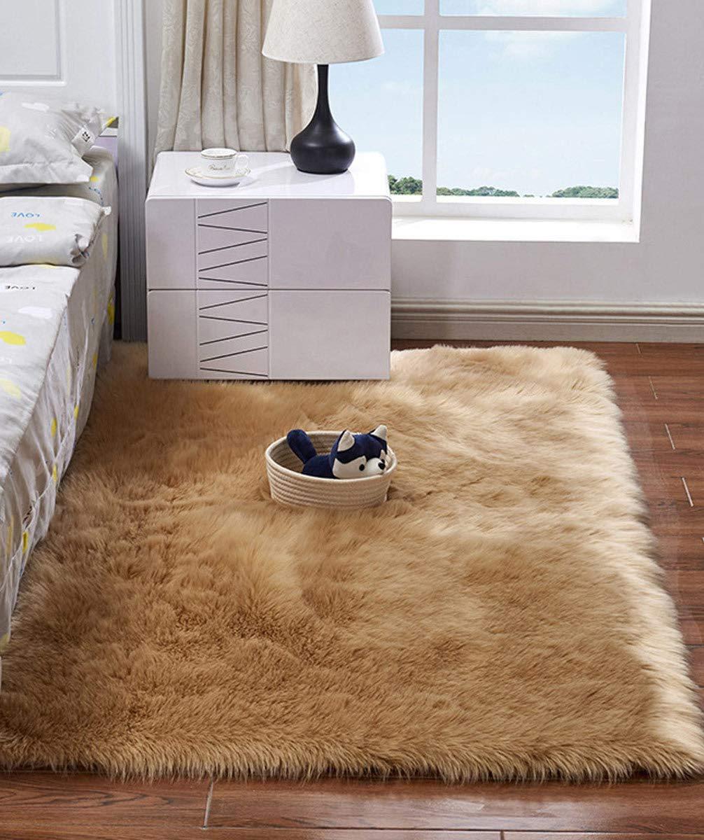 Haresle Woolen Floor Rug Non Slip Fluffy Area Rugs Shaggy Floor Carpet For Bedroom Living Room Camel 2 X 3 Buy Online In Bahamas At Bahamas Desertcart Com Productid 96402927