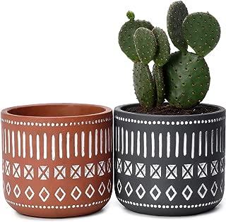 Potey Cement Plant Pots Concrete Flower Planters - 4.3