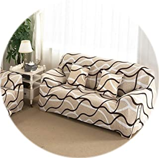 Secret-shop Universal Sofa Cover Flexible Stretch Big Elasticity Couch Cover Loveseat Sofa Furniture Cover Sofa Towel 1/2/3/4-seat Sofa Funda,03,1 Seat