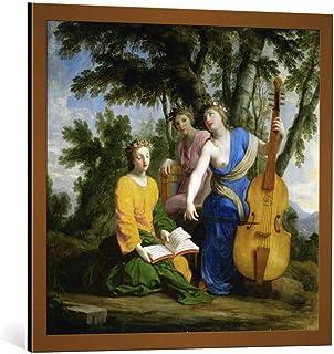 Kunst für Alle Image encadrée: Eustache Le Sueur Melpomène Erato et Polymnie - Impression d'art décorative, en Cadre de Ha...