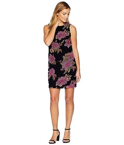 Calvin Klein Floral Burnout Trapeze Dress CD8V2X4Q (Black Multi) Women