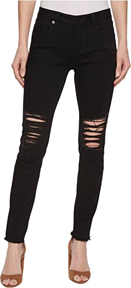 Skinny Destructed Jeans in Black