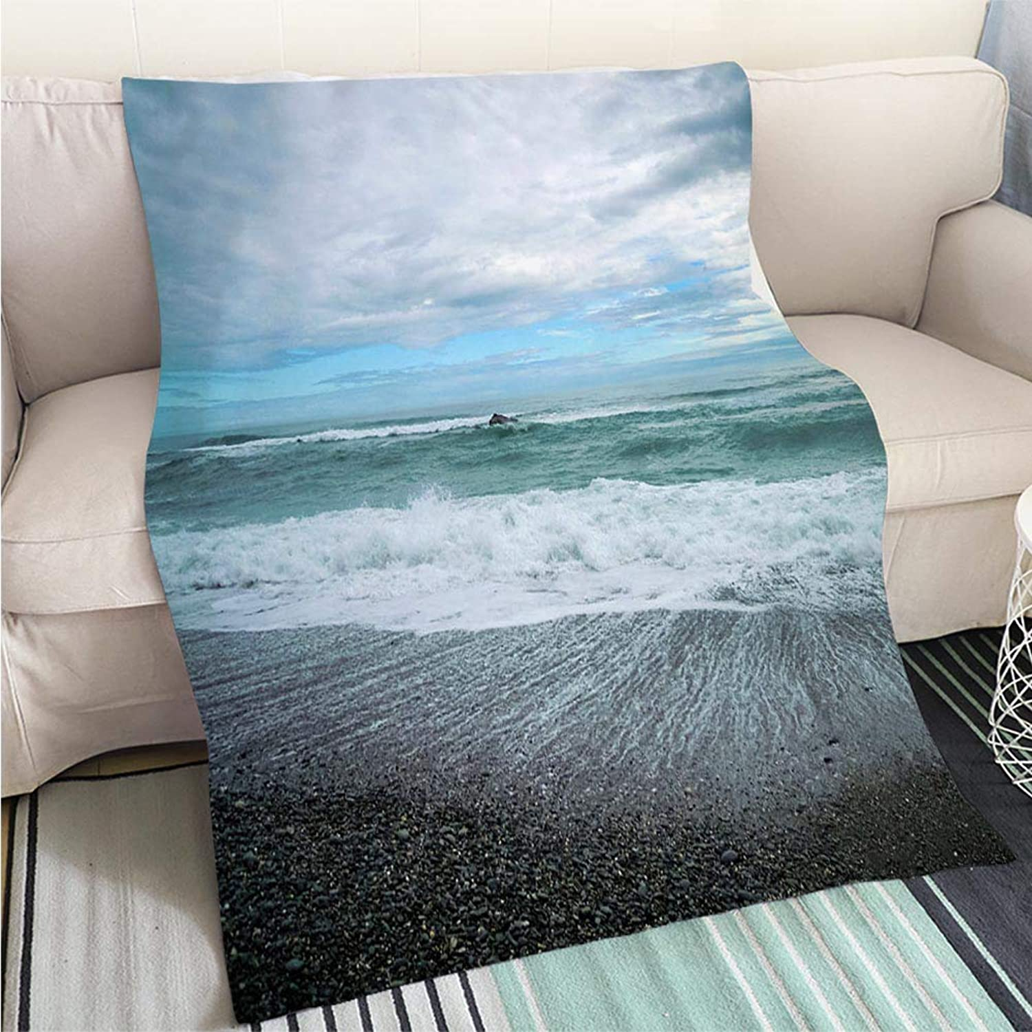 BEICICI Art Design Photos Cool Quilt Galway Beach South Island New Zealand Fun Design AllSeason Blanket Bed or Couch