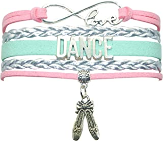 Girls Dance Bracelet Dancing Belly Ballroom Just Dance Charm Bracelet Dancer Gifts for Women, Girls, Dancers, Men, Boys, Dance Mom, Dance Teacher, Dance Lovers