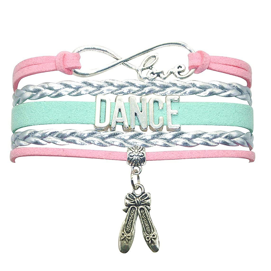 HHHbeauty Girls Dance Bracelet Dancing Belly Ballroom Just Dance Charm Bracelet Dancer Gifts for Women, Girls, Dancers, Men, Boys, Dance Mom, Dance Teacher, Dance Lovers