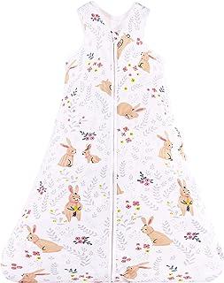Chilsuessy baby sovsäck för sommar 100 % bomull unisex, spädbarn sovsäck bärbar filt sovsäck 90-110 cm för spädbarn småbar...