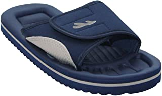 PDQ New Mens Lightweight Slip On Touch Strap Summer Beach Mules Flip Flops UK 6-12