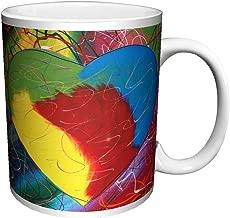 Steven Kaufman Heart Paint Swirls Decorative Fine Pop Art Ceramic Gift Coffee (Tea, Cocoa) 11 Oz. Mug