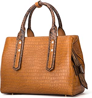 Genuine Leather Handbags for Women Luxury Designer Handbags Top-handle Bags Embossed Crocodile Cowhide