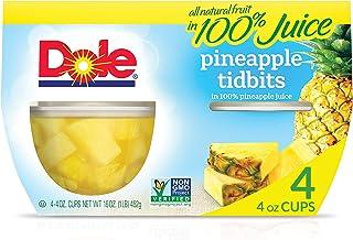 Dole, Pineapple Tidbits in Juice, 16 Oz, (pack of 4)
