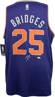 Mikal Bridges Phoenix Suns Signed Purple Fast Break Fanatics Basketball Jersey Fanatics