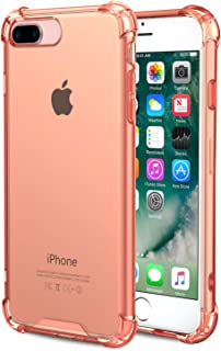 Speira iPhone 8 Plus/iPhone 7 Plus Transparent Case with Reinforced Corners, [Anti-Discoloration] [No-Slip Grip] (Rose Gold)