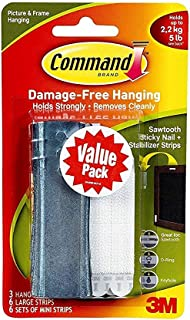 Command Universal Picture Hangers w/Stabilizer Strips BCSRQ, 6-Hangers