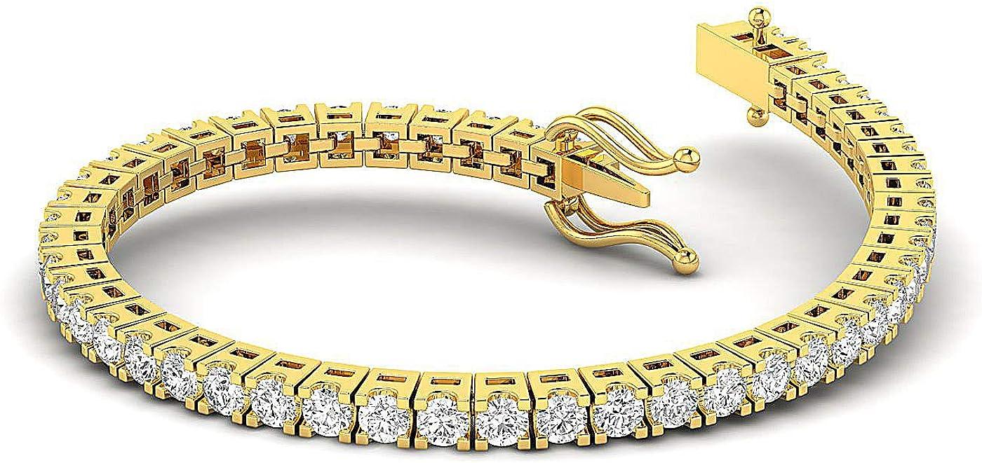 Challenge the lowest price FG SI - 5 Carat Lab Grown Gorgeous Diamond Round Studded te brilliant Cut
