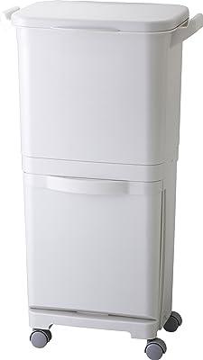 リス 分別 ゴミ箱 縦型分類ワゴンペール H&H グレー 45L 日本製 45S