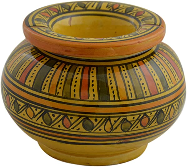 Ceramic Ashtrays Moroccan Handmade Smokeless Cigar Exquisite Design With Vivid Colors X Large