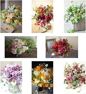 ポストカード 花の写真 8枚(8種)+おまけ1枚 セット 花屋オリジナル 花 ブーケ 花束 絵葉書 アレンジメント POSTCARD おしゃれ 絵はがき (21-03-Set3-FB)