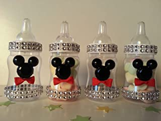 12 Mickey Mouse Fillable Bottles Baby Shower Favors Prizes Game Boy Decorations