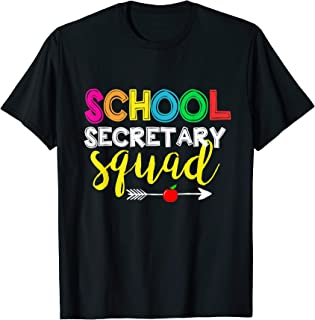 Team School Secretary Squad Teacher Back To School  T-Shirt