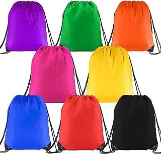 D.Q.Z 巾着バックパックバッグ 子供用 まとめ買いバッグ ジムトートバッグ スポーツ旅行用 8パック