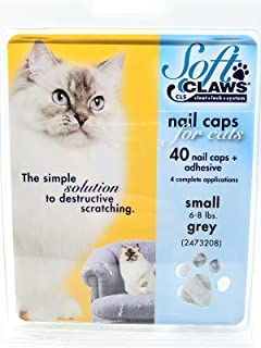 Soft Claws Feline Cat Nail Caps Take Home Kit, Small, Gray