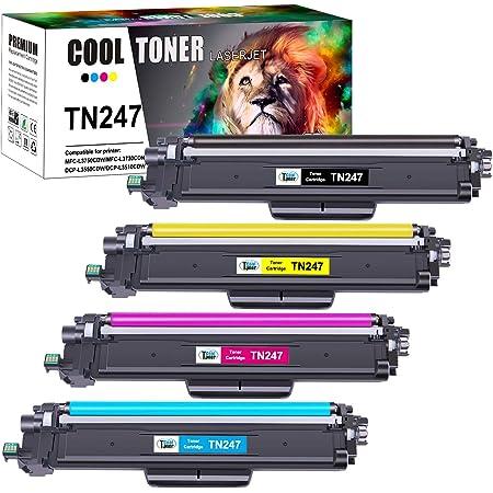 Cool Toner Cartuccia Toner TN247 Sostituzione per TN243CMYK TN 243 TN-247 per Brother MFC-L3730CDN DCP-L3550CDW MFC-L3750CDW MFC-L3770CDW HL-L3210CW HL-L3230CDW HL-L3270CDW MFC-L3710CW DCP-L3510CDW
