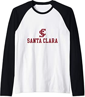 Santa Clara University SCU Broncos NCAA PPSCU02 Raglan Baseball Tee