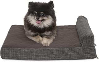 FurHaven Pet Dog Bed   Cooling Gel Memory Foam Orthopedic Quilted Fleece & Print Suede Lounge Pet Bed for Dogs & Cats, Esp...