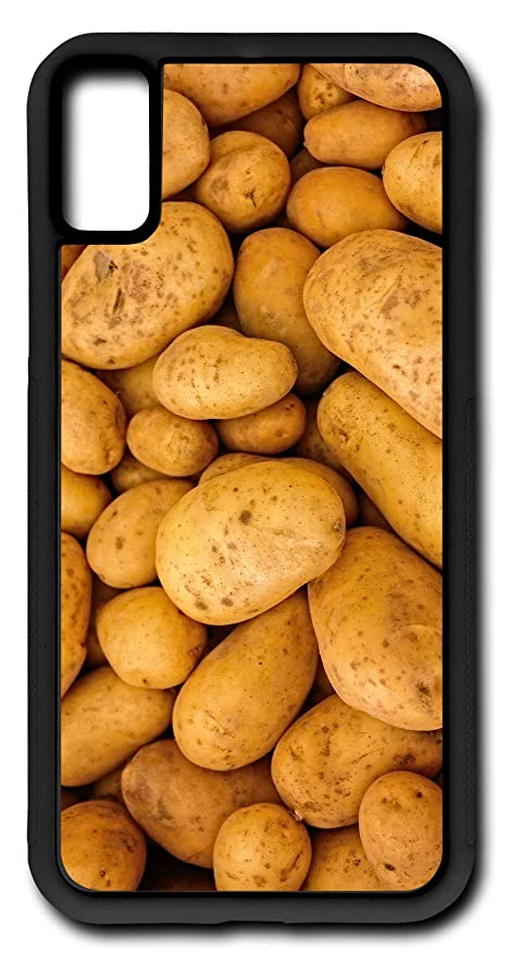 iPhone X Case Potatoes Vegetable Baked Potatoes Spud Tater Customizable by TYD Designs in Black Rubber