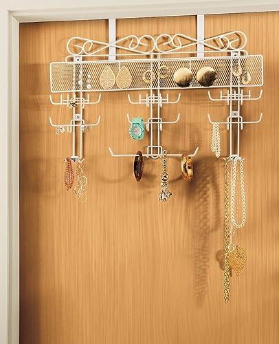 popular Generic popular New Over the Door Jewelry Valet Storage online sale Organizer Necklace Bracelets Rings outlet online sale