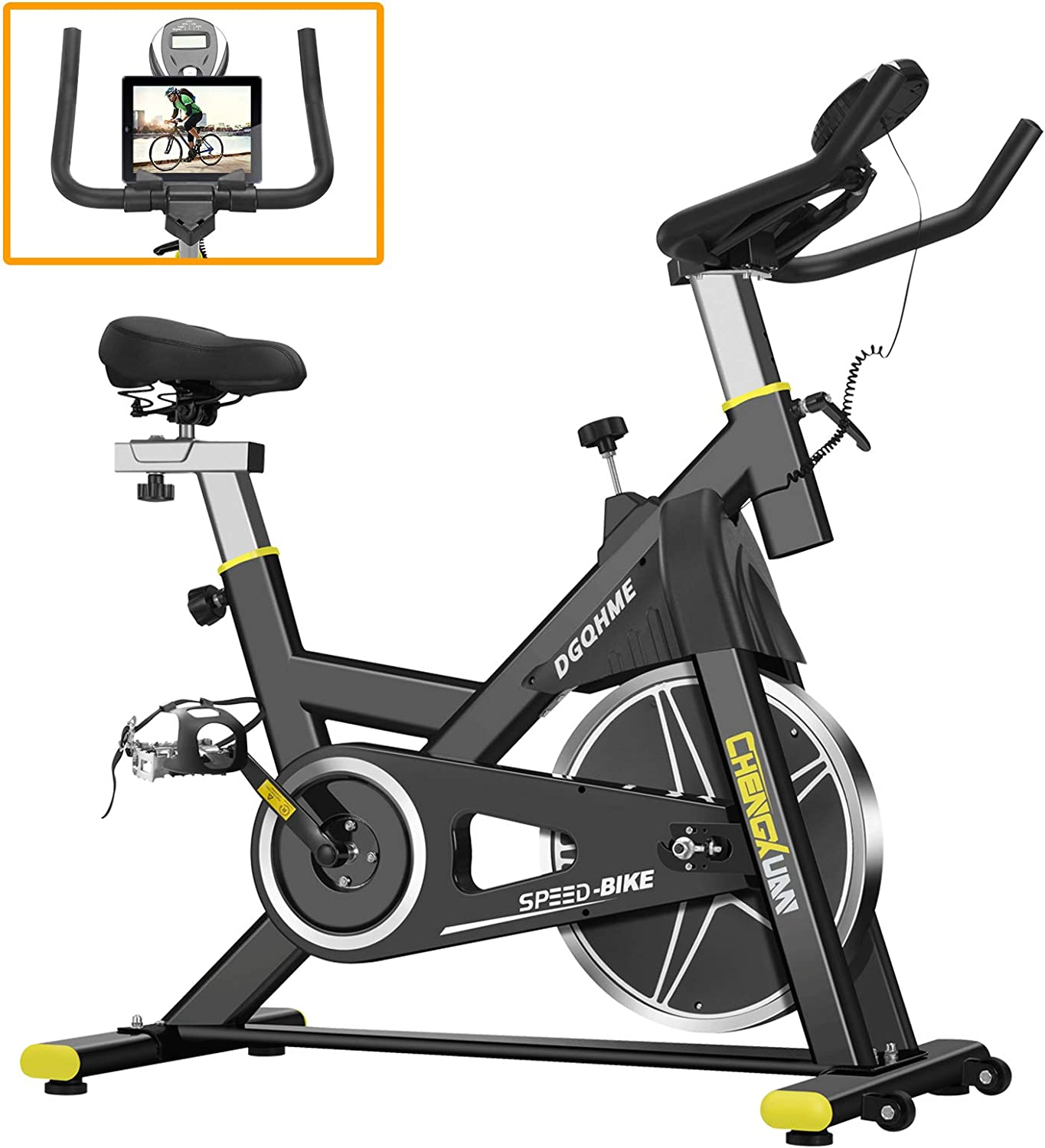 Stationary Comfortable Seat Monitor Holder Cushion LCD Monitor for Gym Home Cardio Workout Bike