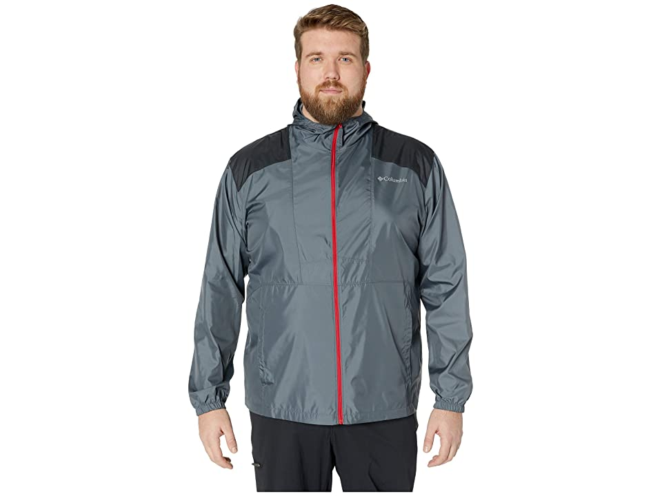 Columbia Big Tall Flashbacktm Windbreaker (Graphite/Black/Mountain Red) Men