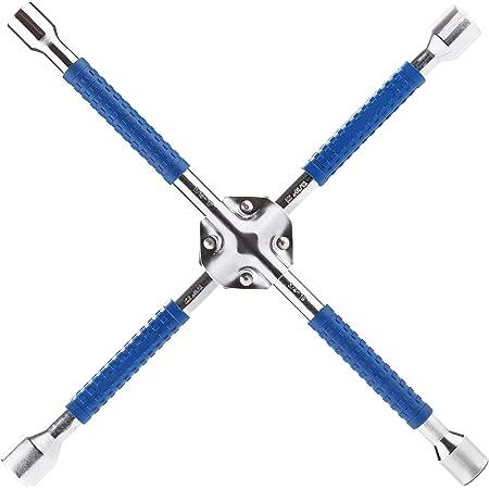 Cartman 18 Inch Universal Heavy Duty Lug Wrench, Non Slip 4-Way Cross Wrench