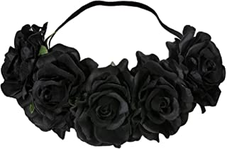 Ro Rox Women's Floral Garland Flower Crown Artificial Roses Headband