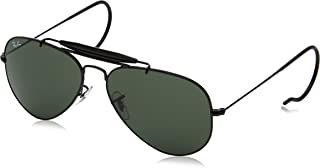 Ray-Ban Outdoorsman Aviator Occhiali da sole in nero RB3030L950058