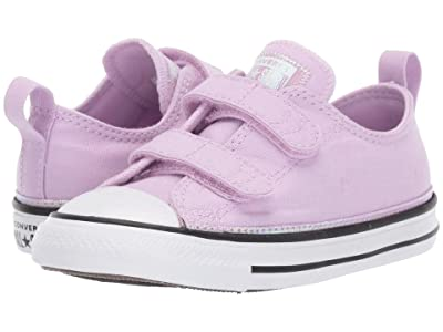 Converse Kids Chuck Taylor(r) All Star(r) Iridescent 2V Ox (Infant/Toddler) (Lilac Mist/White/Black) Girls Shoes