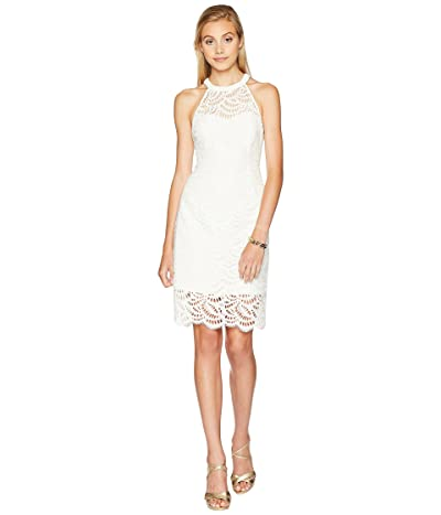 Lilly Pulitzer Kenna Halter Dress (Coconut Scalloped Fan Lace) Women