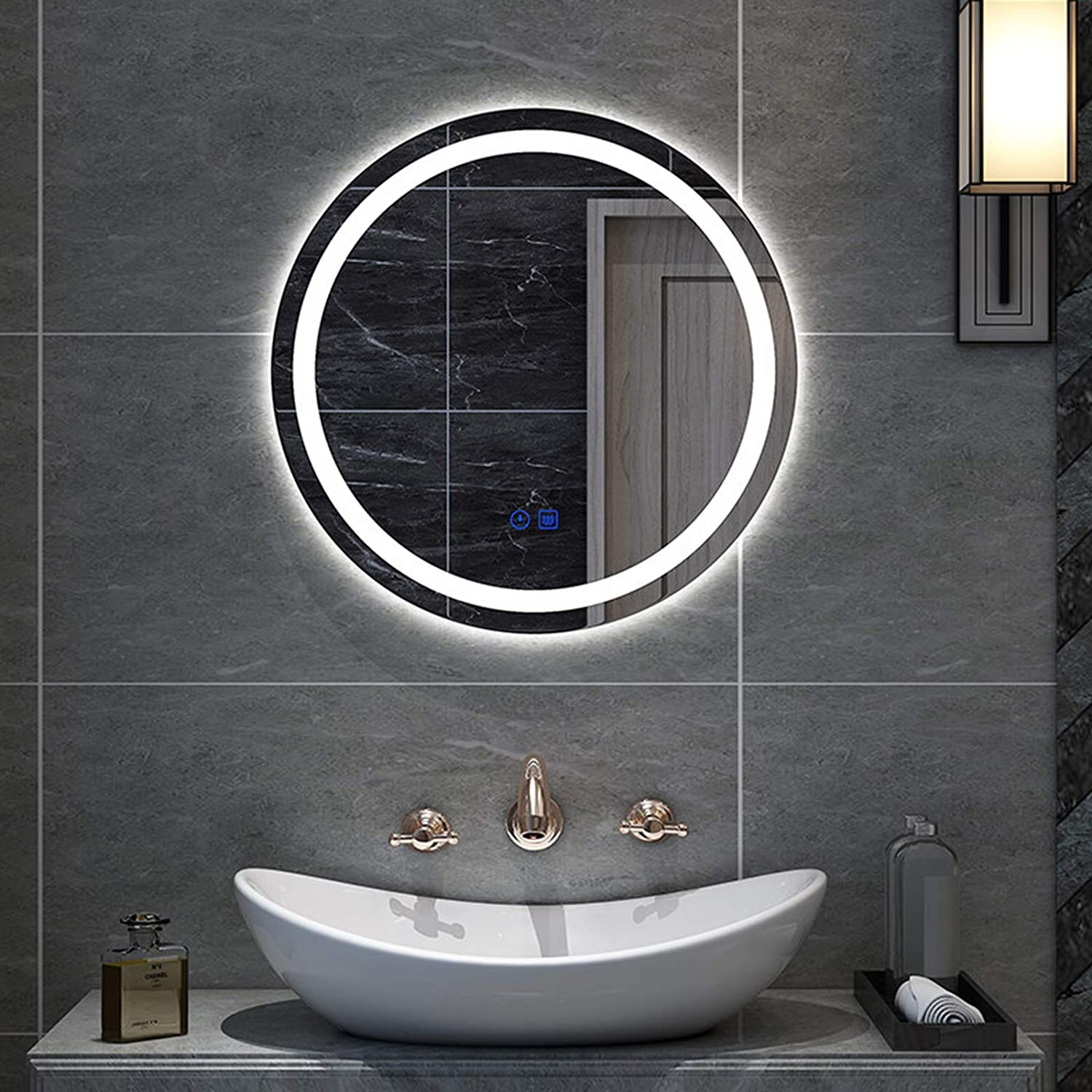 Round LED Import Lighted Bathroom Mirror Vanity Mounted Ranking TOP8 w Wall