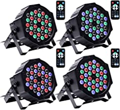 U`King 36 LED Uplights Sound Activated Stage Lighting Par Can Lights by DMX and Remote Control for DJ Uplighting Wedding Birthday Party Church
