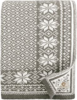 Linen & Cotton Muy Suave Manta Nordica de Punto North Para Sofá - 100% Pura Lana Nueva Zelanda, Gris Blanco (130 x 180cm) Plaid Blanket Edredón Colcha de Cama Singolo Matrimonio para Invierno e Verano