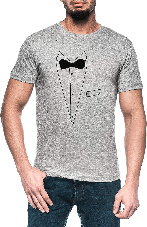Smoking Hombre Gris Camiseta Manga Corta Mens Grey T-Shirt ...