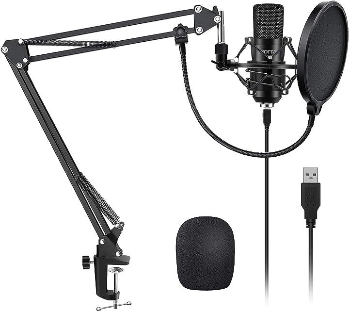 Microfono usb  a condensatore kit 192khz/24bit microfono di registrazione per computer pc youtube B07WFW673W