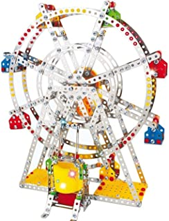 INSTEN Metal Toy Ferris Wheel Model Building Kit with Lights and Music
