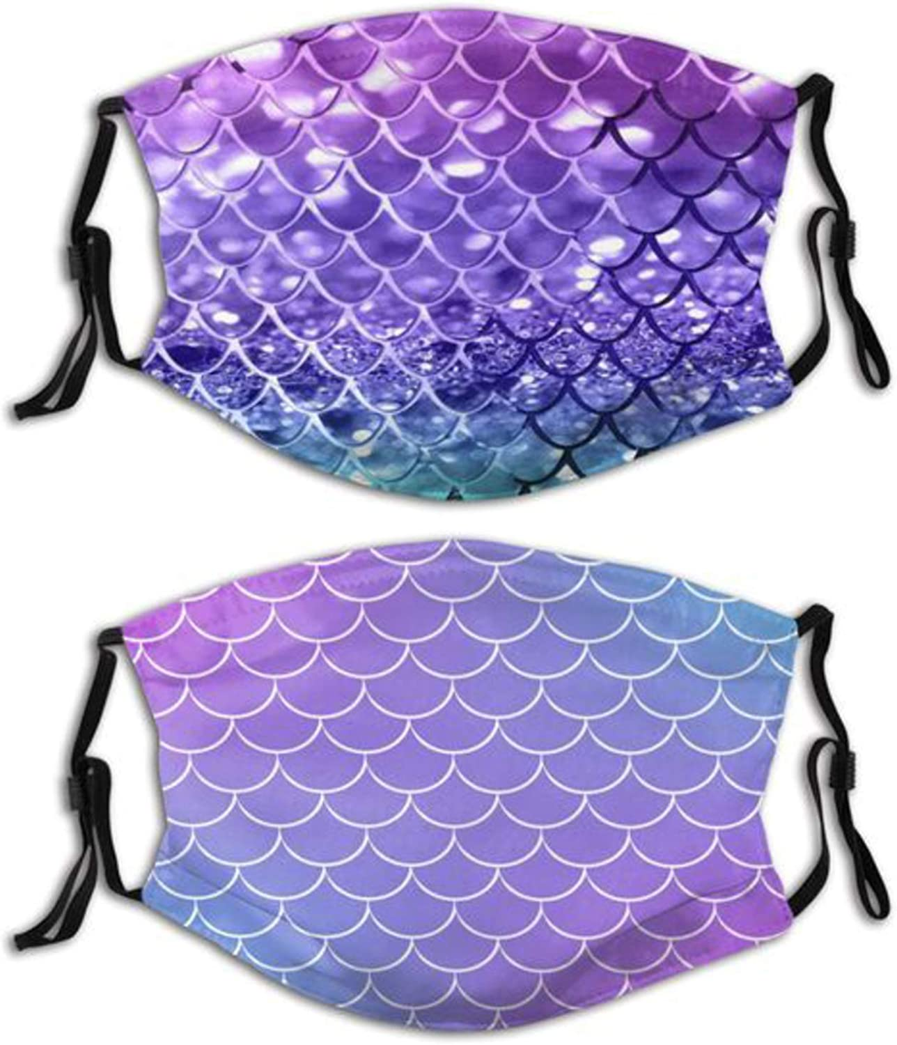 Mermaid quality assurance Face Max 40% OFF Mask with Filters for Washable Mo Reusable Men
