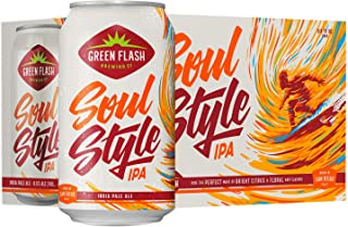 Green Flash Soul Style IPA, 355ml (Pack of 6)