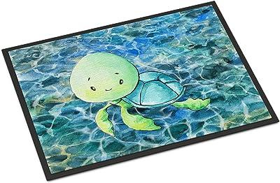 """Caroline's Treasures Sea Turtle Doormat, 24"""" x 36"""", Multicolor"""