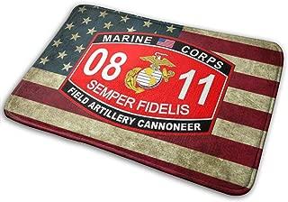 GUOQIANGdi Marine Corps MOS 0811 USMC US Marine Corps Military Carpet Mat Door Mat Bathroom Mat Kitchen Mat