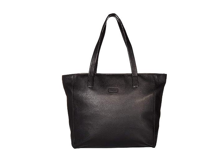 UGG  Alina East/West Leather Tote (Black) Tote Handbags