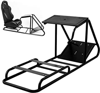VEVOR Racing Simulator Cockpit Height Adjustable Racing Wheel Stand with Logitech G25, G27, G29, G920 Next Level Racing Wheel and Pedals Not Included